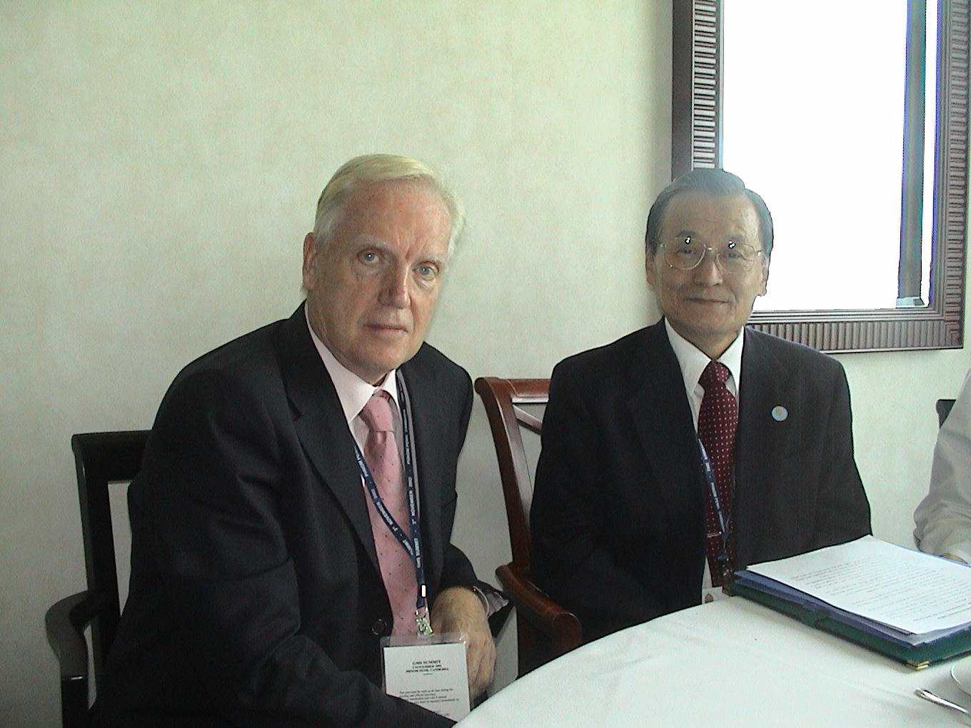 David Husband with Mr. Tadeo Chino, President of the Asian Development Bank